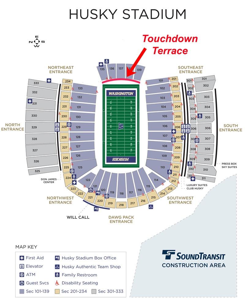 husky stadium seating chart