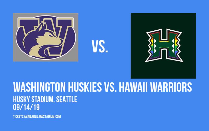 Washington Huskies vs. Hawaii Warriors at Husky Stadium