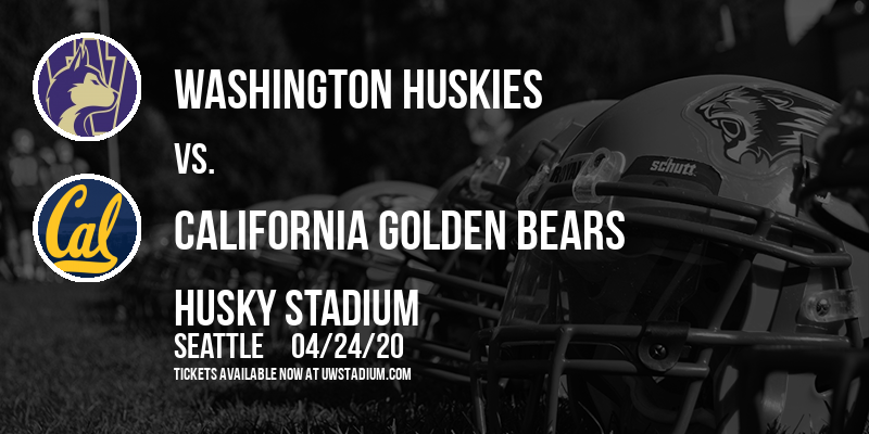 Washington Huskies vs. California Golden Bears at Husky Stadium