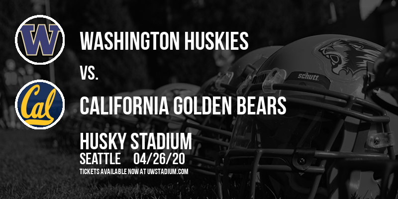 Washington Huskies vs. California Golden Bears at Husky Stadium