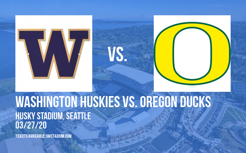 Washington Huskies vs. Oregon Ducks at Husky Stadium