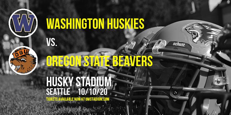 Washington Huskies vs. Oregon State Beavers at Husky Stadium