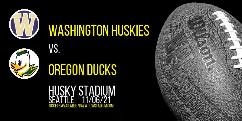 Washington Huskies vs. Oregon Ducks at Husky Stadium