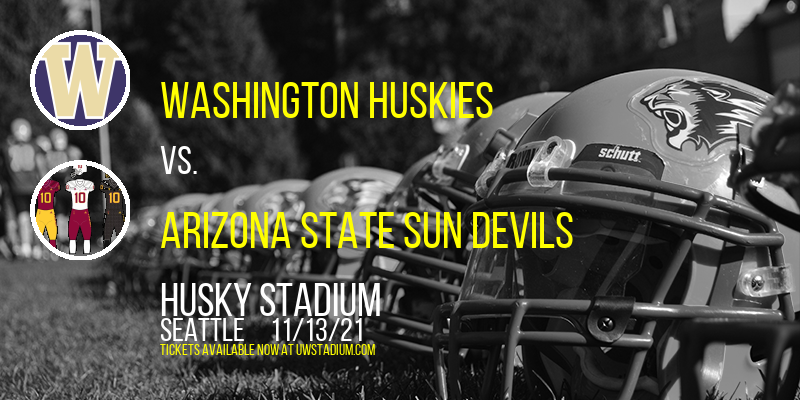 Washington Huskies vs. Arizona State Sun Devils at Husky Stadium